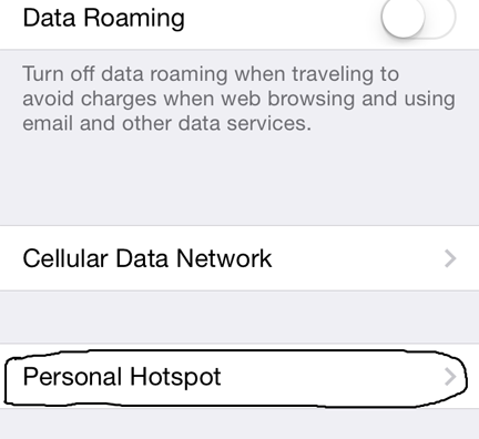 How to set up hotspot on iphone