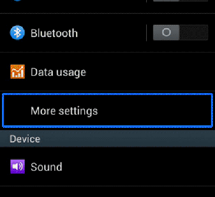 Turn on Hotspot in Sony Xperia C3 Mobile Phone