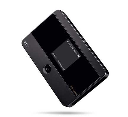 Portable wifi hotspot device