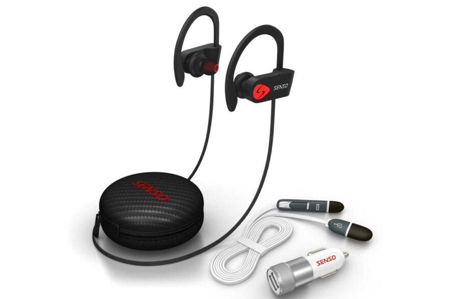wireless headphones senso bluetooth sports earphones review. Black Bedroom Furniture Sets. Home Design Ideas