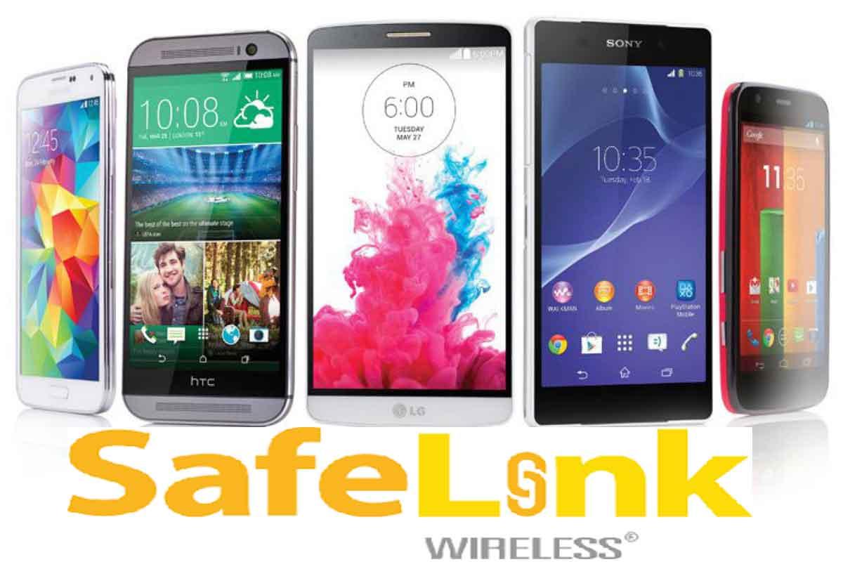 Safelink touch screen phones